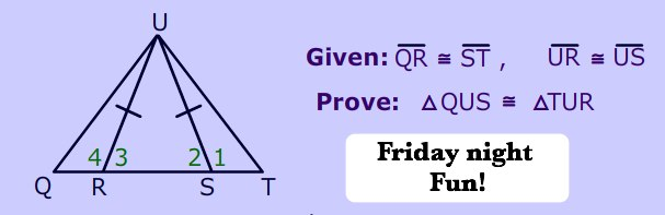 Isosceles Triangle Proof