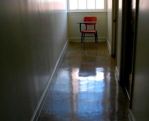 Desk in Hallway